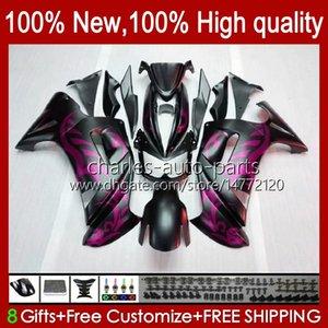 Bodys Kit For KAWASAKI NINJA 650R matte pink hot ER6 F 650 R ER 6 F ER6F 06 07 08 29HC.53 650R-ER6F ER-6F ER 6F 2006 2007 2008 Full Fairings