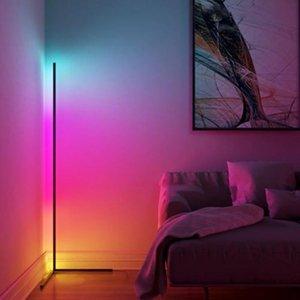 Nordic Minimaliste Corner RGB LED Floor Lampadaire Éclairage Moderne Formation de plancher pour salon Chambre à coucher Appareils d'intérieur