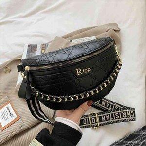 Designer Fanny-Pack für Frauen Luxus Brusttasche Clukth Geldbörse Schulter Crossbody S Mode Taille Kette Brieftasche Clutch 210610