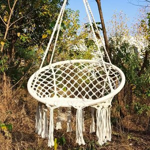 Round Hammock Chair Outdoor Indoor Dormitory Bedroom Yard For Child Adult Swinging Hanging Single Safety Camp Furniture