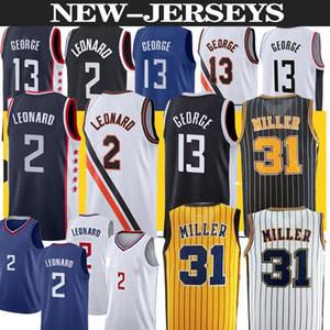 Kawhi 2 Devin Paul 13 George Los Angeleses Basketbol Jersey Indiana Reggie 31 Miller Basketbol Formaları Erkekler Üst S-2XL