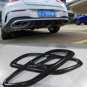 Suitable for Mercedes-Benz 2019-2020 CLA C118 W118 stainless steel black exhaust pipe cover decoration auto parts