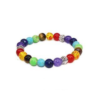 2020 Tantalite Agate handcraft string 8 mm handmade beaded yoga energy lava stone beads bracelet