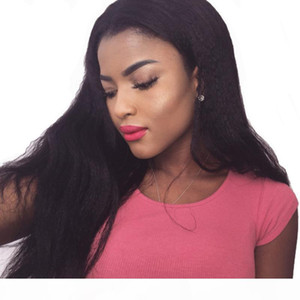 360 Frontal Full Lace Human Hair Wigs Pre Plucked With Baby Hairs Kinky Straight Peruvian Virgin Glueless Italian Yaki 360 Lace Wig
