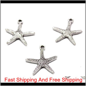 Ocean Small Cute Animal Conch & Shell & Starfish Pendants Charms For Jewelry Making Retro Accessories Cheap Items Diy Sqchpc Ejvde Zycb8