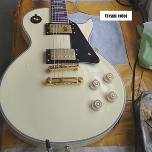 China OEM Factory Brand Cream Color Yellow Color Electric Guitar