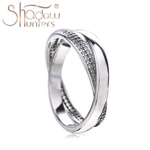 Cluster Rings SHADOWHUNTERS Original 925 Sterling Silver Double For Women Engagement Wedding Jewelry Making Supplies