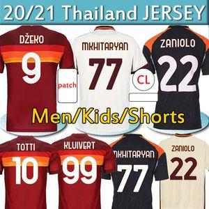 Zaniolo Roma Dzeko Pastore Roma Futbol Forması Totti Kluivert KARAROV AS Maillot 2020 2021 Erkekler + Çocuk Kiti Üniforma 20 21 Futbol Gömlek