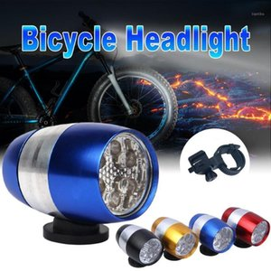 Bike Lights 6 LED Bicycle Light Waterproof Super Bright Headlight Aluminum Alloy Mini Safety Riding Accessories1