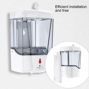 Automatic Soap Dispenser 700ml Wall Mounted Automatic Sensor Large Capacity Liquid Soap Dispensers Bathroom Accessories 100pcs OOA8167