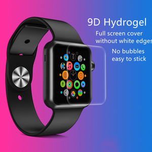 9D Curved Hydrogel Screen Films Full Covered Tempered HD Glass for Apple Watch iwatch 123456 se 38 40 42mm Protective Explosion-proof