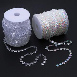 30mmeters / 99feet / Roll 10 мм акриловый диск с бисером радужной радуги кристалл гирлянды пряди для свадебных украшений люстра