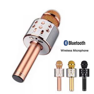 Microfono professionale altoparlante wireless microfono Portatile Karaoke HAFI Bluetooth Player WS858 Registratore di canto KTV Microfono WS 858