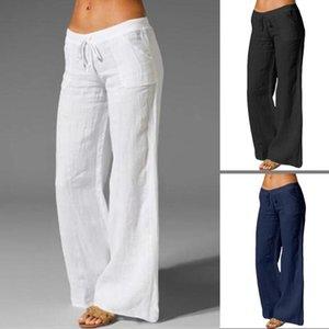 Yuerlian Casual Haren Plus Size Massive Fittness Legging Cotton Hose für Frauen Freizeit Baggy Hose Leinen
