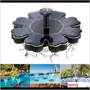 Solar Panel Powered Brushless Water Pump Yard Garden Decor Pool Outdoor Games Round Petal Floating Fountain Water Pumps Cca11698 10Pcs 9Ekpx