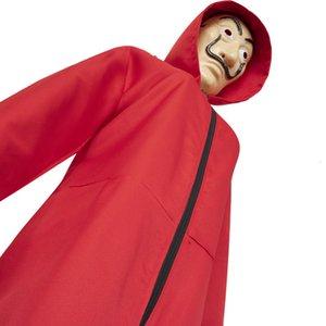 드 Papel 마스크 의상없이 카사 Coplay La Salvador Dali Cosplay 의상 Masque 현실적인 파티 의류 Jumsuutes Suit DDA412