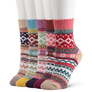 Kate Kasin Women Winter Warm Socks Thick Soft Wool Cozy Crew Socks