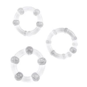 3pcs set Transparent Beads Lock Fine Ring Penile Cock Bondage Rings Male Delayed Ejaculation Masturbation Flirt Sex Toy 21s