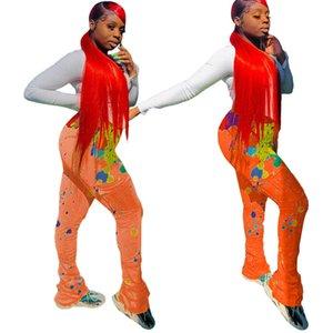 Pannelli di inchiostro a pieghe da donna Casual Urban Pocket Pocket Micro Trumpet 4 Pantaloni sportivi a colori