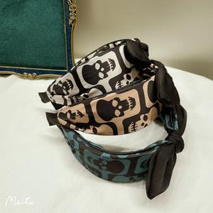 Simple skull hair hoop women's versatile wide edge pressure hair hoop fashion cloth art hair ornaments