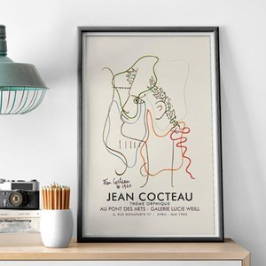 Paintings Canvas Painting Posters And Prints Pictures On The Wall Jean Cocteau Frence Modern Artist Abstract Home Decor