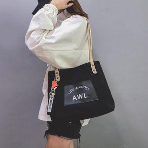 Ins сумка женщина 2021 весна новая большая емкость сумка мода корейская сумка портативный холст тренд сумка