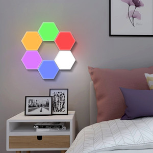 Colorful touch light hexagon touch light DIY Quantum light Home Decoration Accessories Lights For Living Room