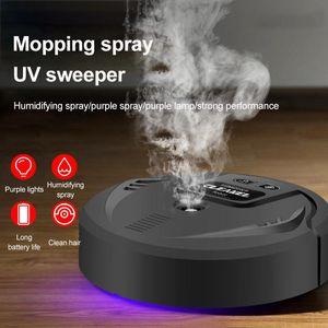 Akıllı Ev Kontrolü Otomatik Zemin Robot Süpürge Şarj Edilebilir Otomatik Süpürge Kenar Temiz Sprey Nemlendirme UV Düşük Çalışma Nois