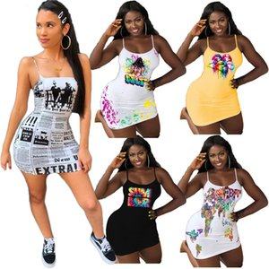 Plus size Women sexy dresses speaghetti strap mini skirts fashion club wear backless skinny dress free shipping print sleeveless dress 4547