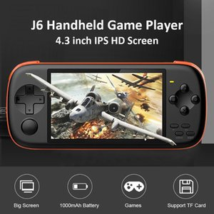 Powkiddy J6 Handheld Game Console Screen HD Game Player Powkiddy 4.3 inch IPS Dustproof Portable Carrying Decor for PSP GBA