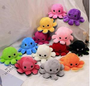 Nouveau poulpe réversible pieuvre peluche peluche jouet soft animal accessoires maison poupée jolie poupée animal cadeaux cadeaux bébé compagnon peluche jouet