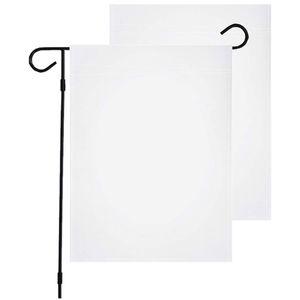 30x45cm Sublimation Blank Garden Drapeau Bannière Polyester Impression de jardin Drapeaux sans pôle