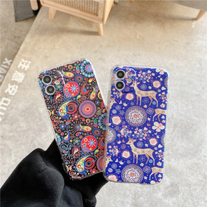 Abstract Painting Cartoon Phone Case For iphone 12 mini 11 Pro Max SE 2020 8 7 plus X XR XS Max 3D Relief Soft Cover Cute Cases
