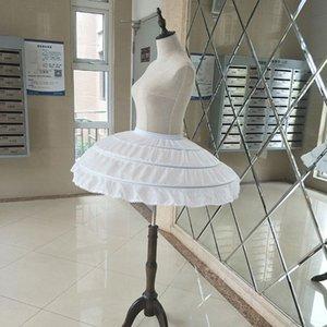 Niños Niñas Hoops Blanco Vestido de boda en Petticoat Bandera Desordina la cintura Elástica Drawstring A-Line Falda Ruffles Envío Gratis