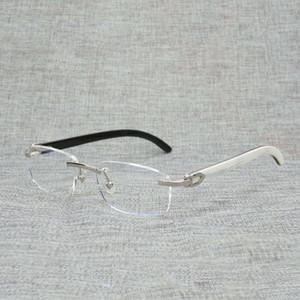 Fingerholz Quadrat Helle Männer Natürliche Büffel Horn Übergroße Zufällige Glasrahmen Für Frauen Lesen Sie optische ovale Augen