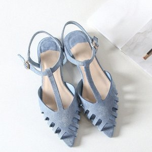 Boussac corta las sandalias planas mujeres puntiagudo punteado de punta de verano sandalias mujeres suaves zapatos de verano swa0097 x3un #