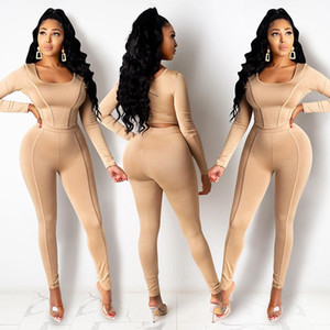 2021 women new 2 Piece Set Satin Jumpsuits Rompers Women Two Piece Set Clothing Outfits Trousers Pants