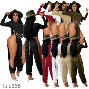 Women's Jumpsuits & Rompers Fashion Sexy Streetwear Irregular Personalized Legless Black Skinny Jumpsuit Womens Solid onesise lulu365