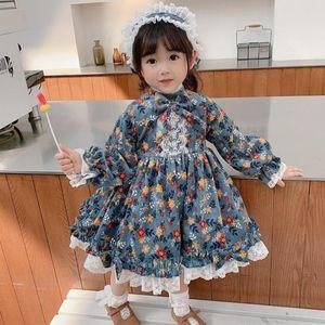 Miayii Baby Kleidung Spanisch Vintage Lolita Türkei Ballkleid Spitze Bogen Drucken Geburtstagsfeier Ostern Prinzessin Kleid Für Mädchen Y3825