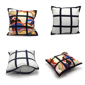Sublimation 9 Panels Pillowcase Blank Heat Transfer Printing Pillow Covers OEM Cushion Mix Size Without Insert Polyester Pillow Cushion A12