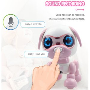 Hot Selling Adorable Interactive Smart Puppy Robotic Dog LED Eyes Sound Recording Sing Sleep Children's Favorite