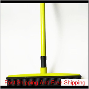 Squeegees Broom Pet Hair Removal Broom Telescoping Handle Carpet Rubber Broom Removable Rod Floor Water Remova jllolr bdesybag
