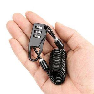 Bike Locks Bicycle Lock Helmet Wire Rope Code Security Anti-theft Accessories