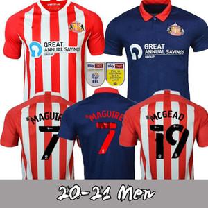 2020 2021 Sunderland Futebol Jerseys embleton Feeney 20 21 Graham Wembley O'Brien Gooch Magucire Men + Kit Kids Set embora Camisas de futebol