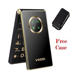 """Original Yeemi M3 2.8"""" HD Screen cell phones speed dial one-key SOS call Large Letters mobile phone Big button Two Sim Card Long Standby FM Folded Style Elderly Free Case"""