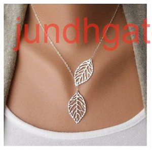 Leaf Necklace double leaf clavicle chain jewelry C042 women's jewelry necklace