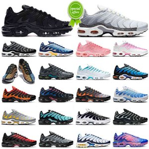 {Light} 2021 TN Artı Koşu Ayakkabıları Erkekler Kadınlar Hiper Mavi Gri Turuncu Açgözlü TNS Bayan Erkek Eğitmenler Açık Spor Sneakers Toptan