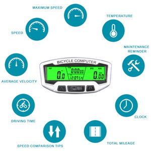SD-558A Bike Backlight Wired Code Table Digital LCD Display Bike Computer Stopwatch Exercise Timer Bicycle Speedometer Odometer