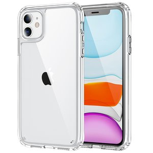 Acrylic Clear Cases Cover Anti-Scratch Shockproof Hard Transparent Back Shell With Soft Edge For iPhone 13 mini 11 pro max 12 6.1