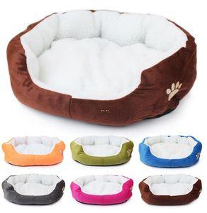 Pet House Mattresses House Sherpa Thick Plush Pet Den Large Medium Small Dogs Comfy Calming Bed Washable Plush Pet Bed sea ship HWB5256